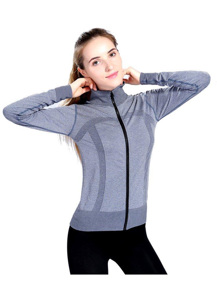 Women Stripes Stand Collar Casual Sports JacketsWomen
