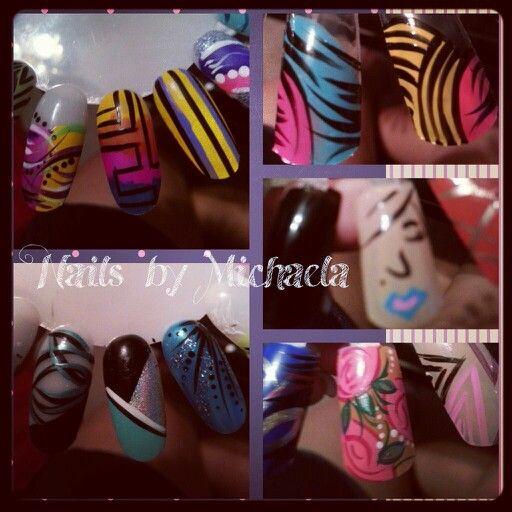 I love creating nail art ♥