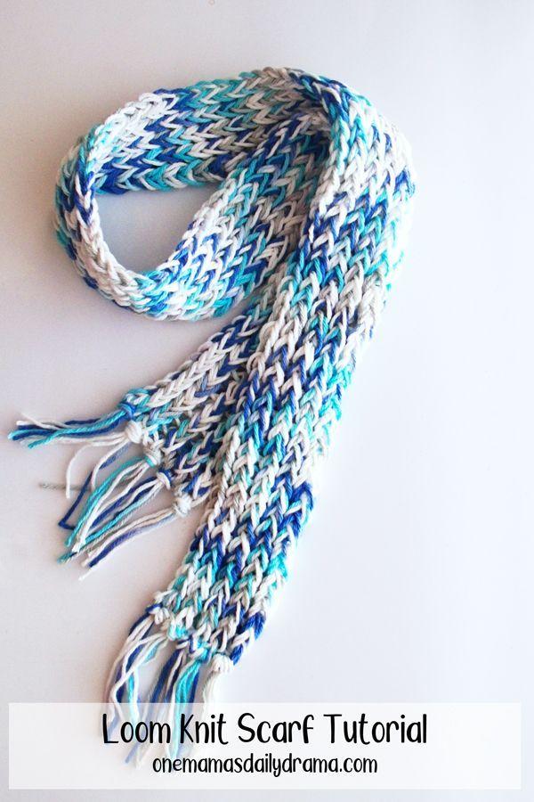 Photo of Loom Knit Scarf Tutorial | Einfaches Strickprojekt für Anfänger