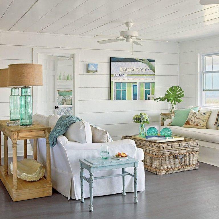 65 Awesome Clean Coastal Living Room Decorating Ideas Livingroomideas Livin Beach Theme Living Room Coastal Style Living Room Coastal Decorating Living Room