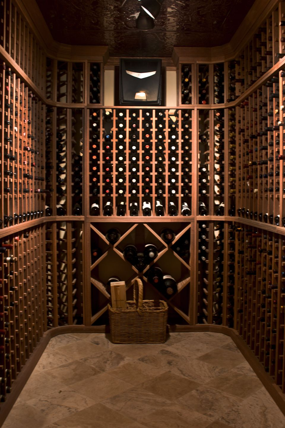 Wineracks Com S American Made Wine Racks In A Finished Cellar We