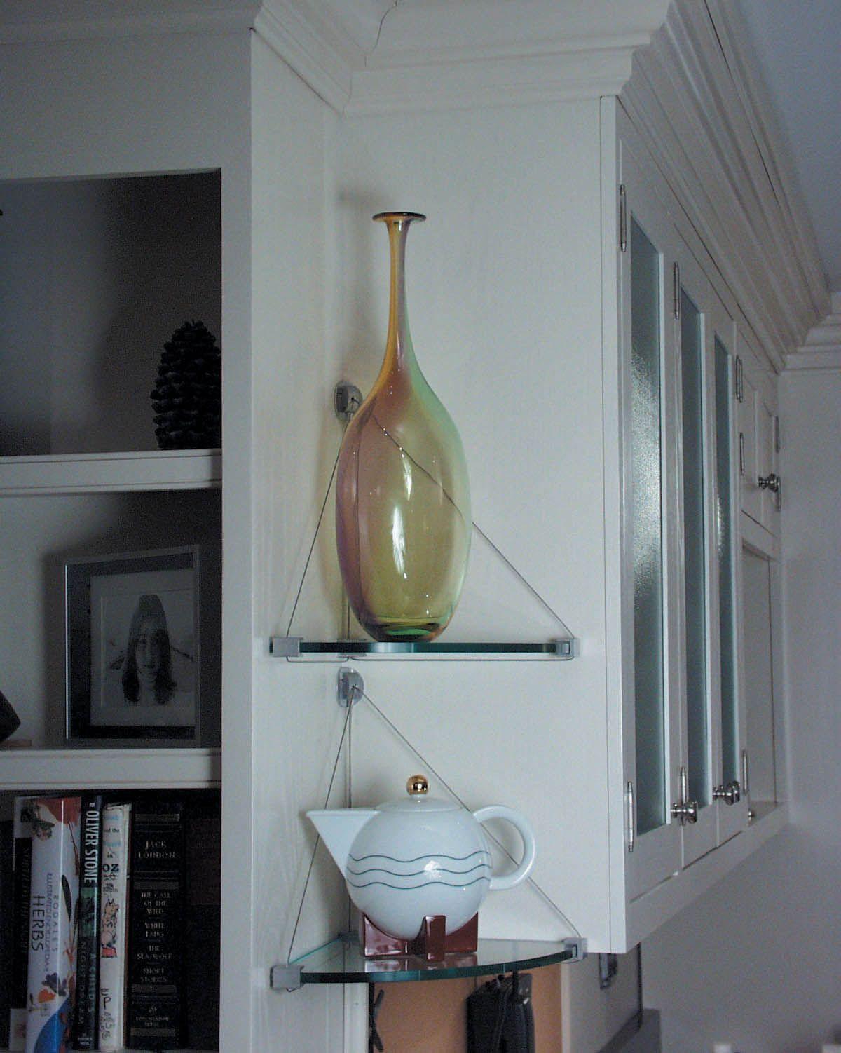 smart glass corner shelves for bathroom with four tier | Bathroom ...