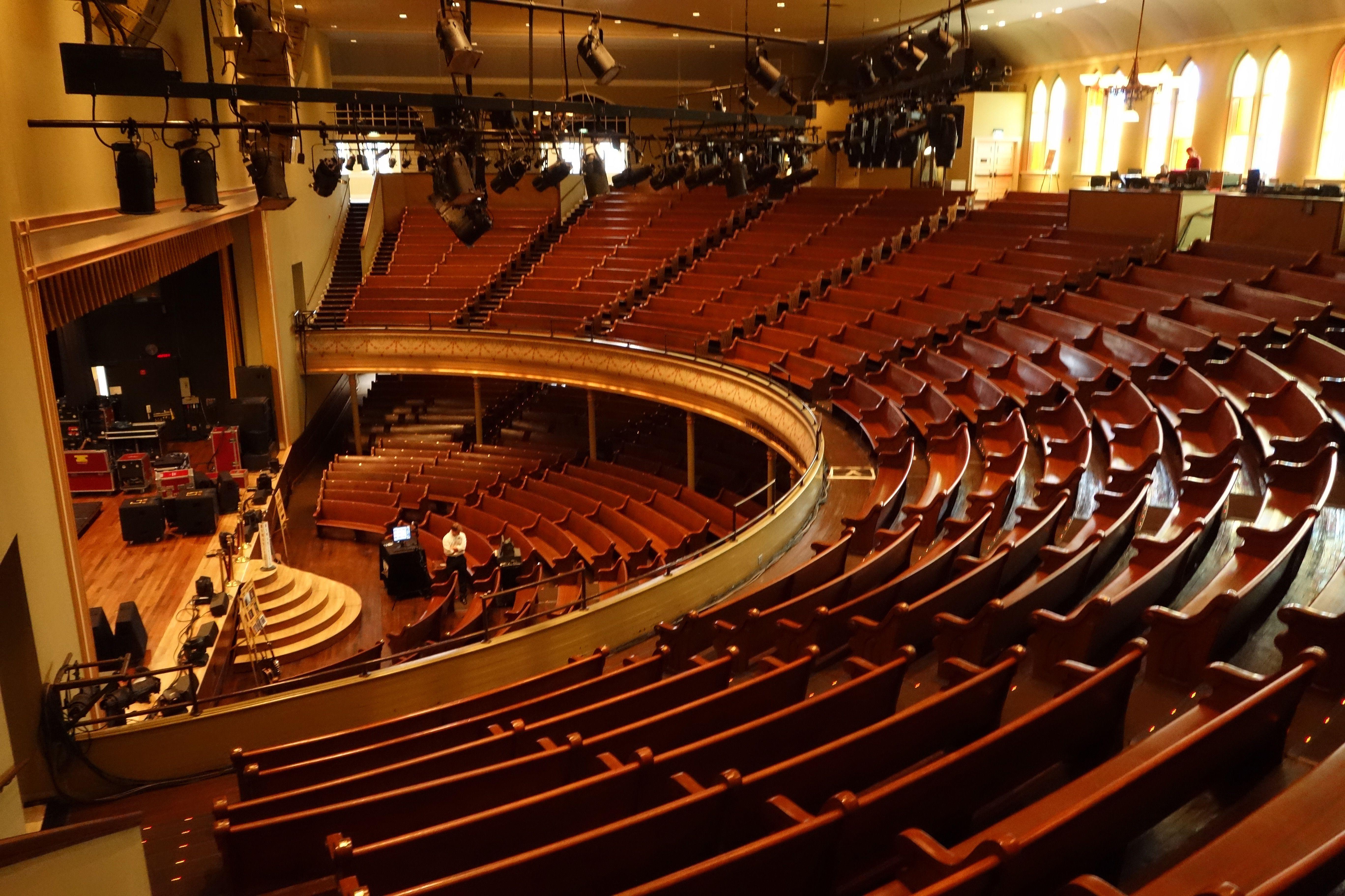 Inside View Of The Ryman Auditorium