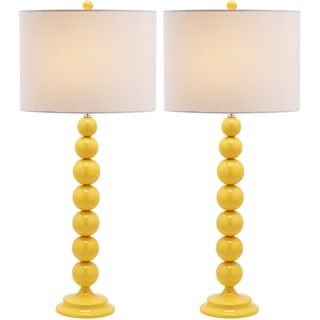 Jenna Stacked Ball 1 Light Yellow Table Lamps (Set Of 2)