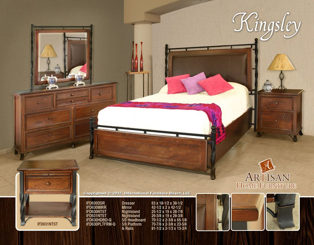 Kingsley Bedroom Collection Made From Solid Mango Wood Rustic Bedroom Furniture Wood Furniture Bedroom Decor Rustic Furniture