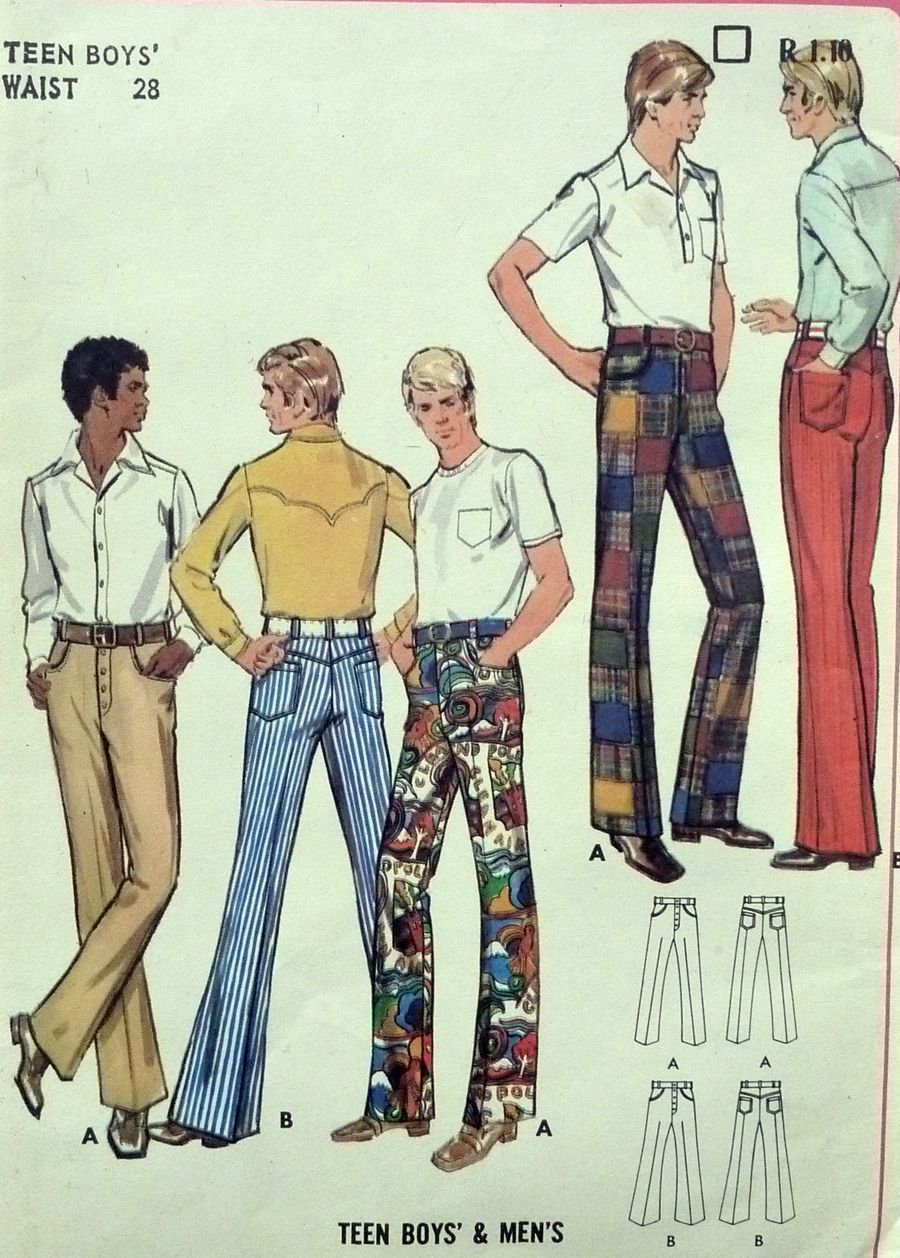 SEWING PATTERN - MEN\'S PANTS / TROUSERS - 28\