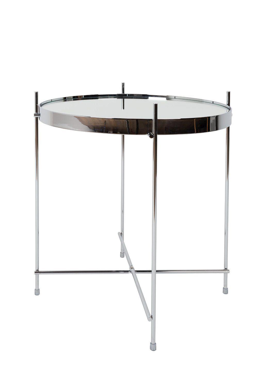 Amazon.de: Zuiver 2300039 Cupid Beistelltisch chrom Glas, 43 x 43 x 45 cm, silver