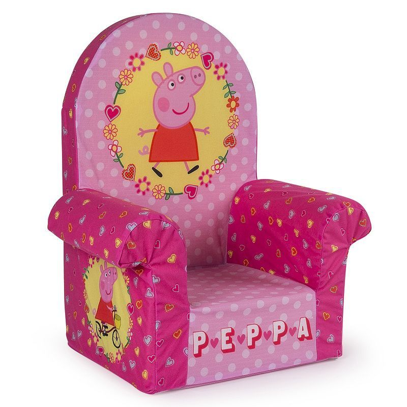 Incredible Peppa Pig High Back Chair High Back Chairs Kids Bedroom Onthecornerstone Fun Painted Chair Ideas Images Onthecornerstoneorg