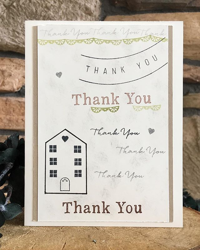 simple and modern thank you card for new home buyers
