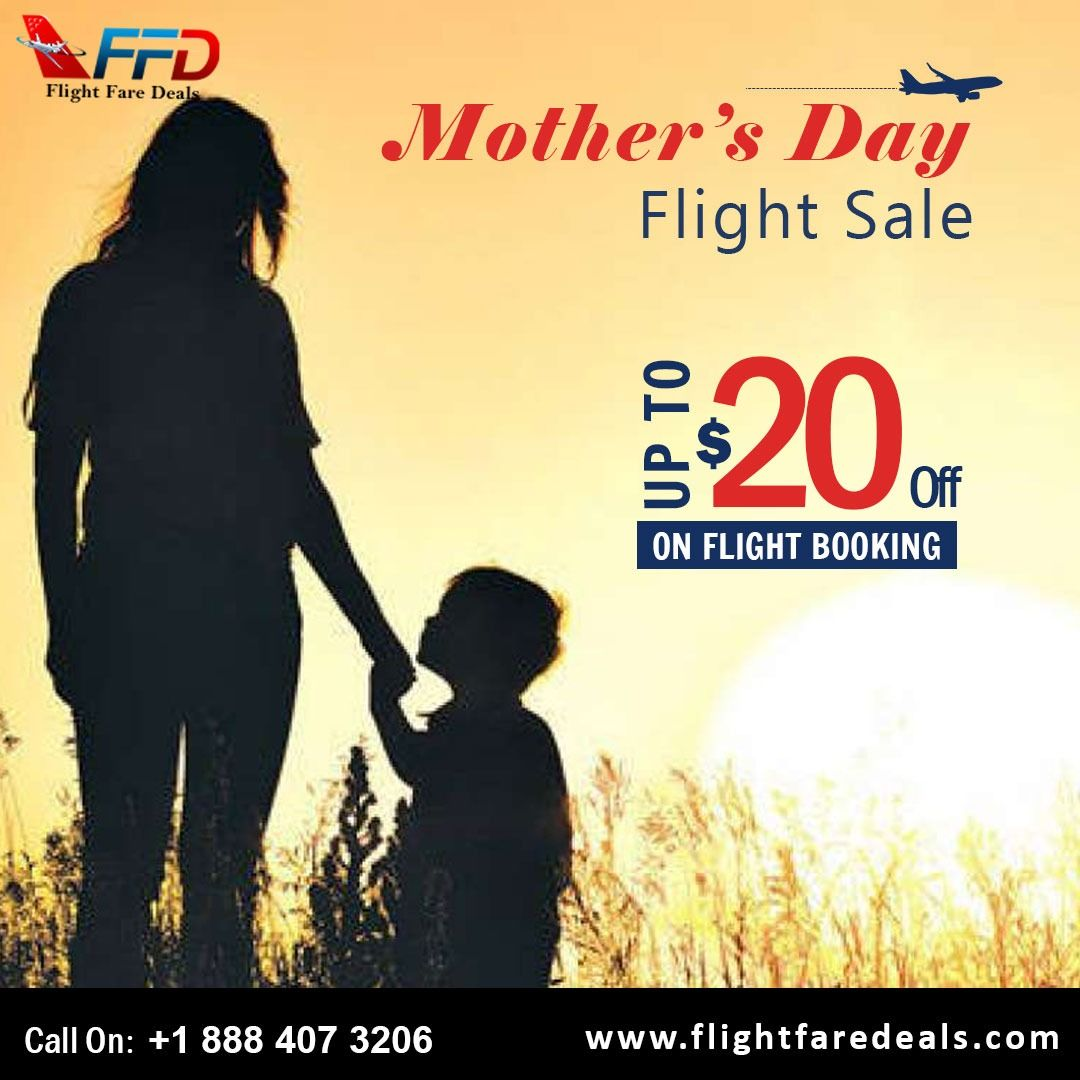 Mother's Day Flight Sale! Get the lowest flights tickets to get together with your mom. Deals Available at unbeatable cost. 🌐www.flightfaredeals.com ☎️Call Toll Free (888)-407-3206  ✈️✈️✈️Mother's Day Flight Deals! #flightbooking #lowfaredeals #flightdeals #flights #cheaptickets #mothersday #cheapflightbooking #flighttime #checkin #checkout #flightcheck #offers