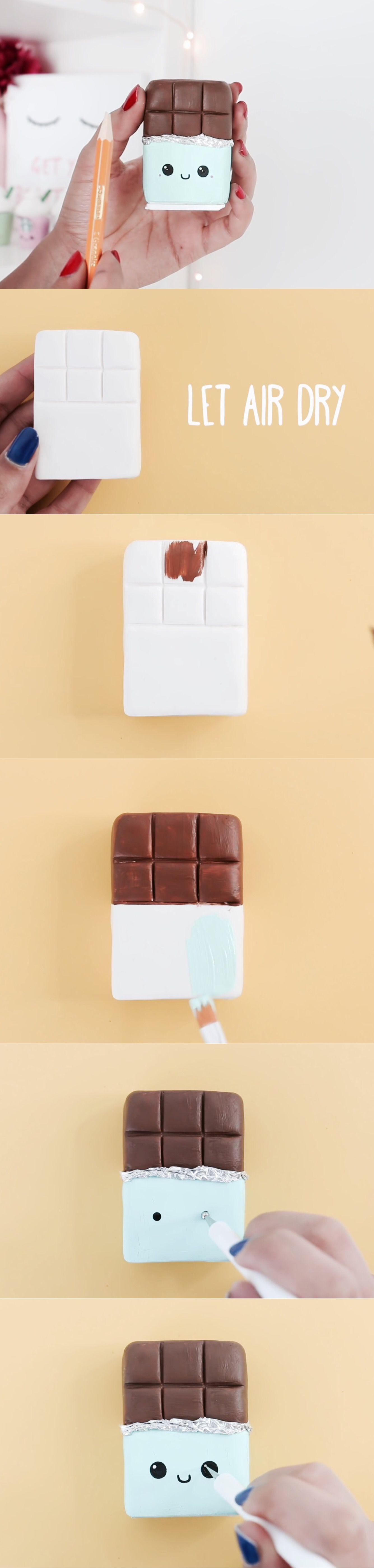 Diy Tablette De Chocolat Kawaii Diy Idée Fimo