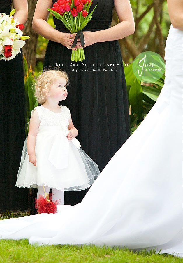 Weddings At Elizabethan Gardens In Manteo, NC, Flower Girl