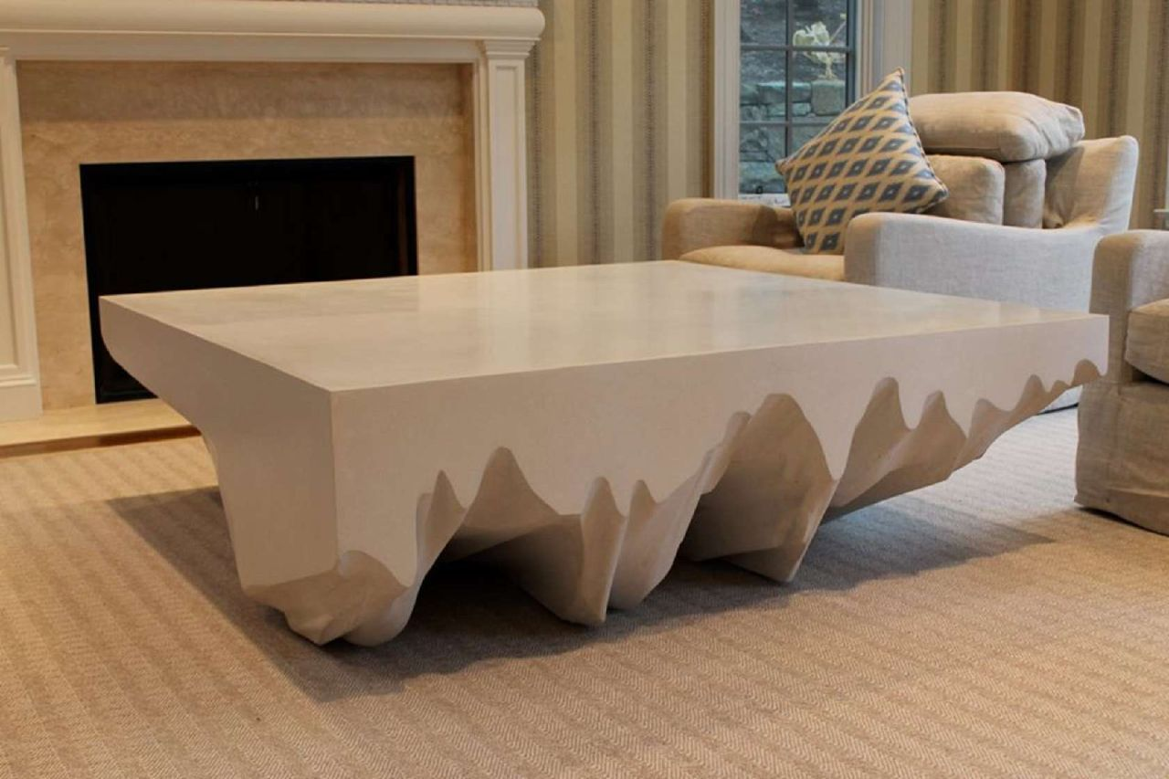 36+ White square concrete coffee table ideas