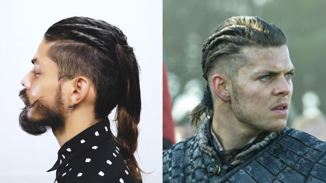 How to do Ivar Hairstyle From Vikings Series - YouTube  Viking