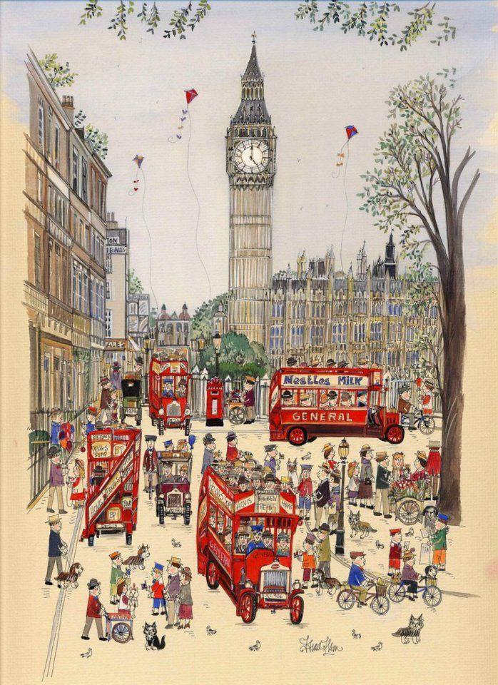 Англия картинки нарисованные, добрым утром