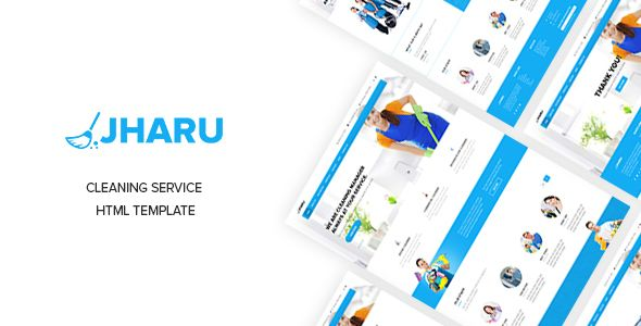 Jharu - Cleaning  Plumbing Service Responsive Template  JHARU - spreadsheet for cleaning business