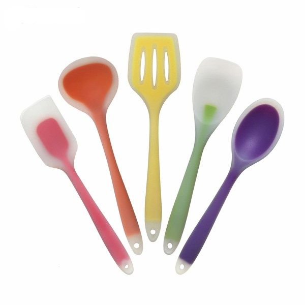 5 Piece Colorful Kitchen Utensil Set | ~Thrifty Feasting ...