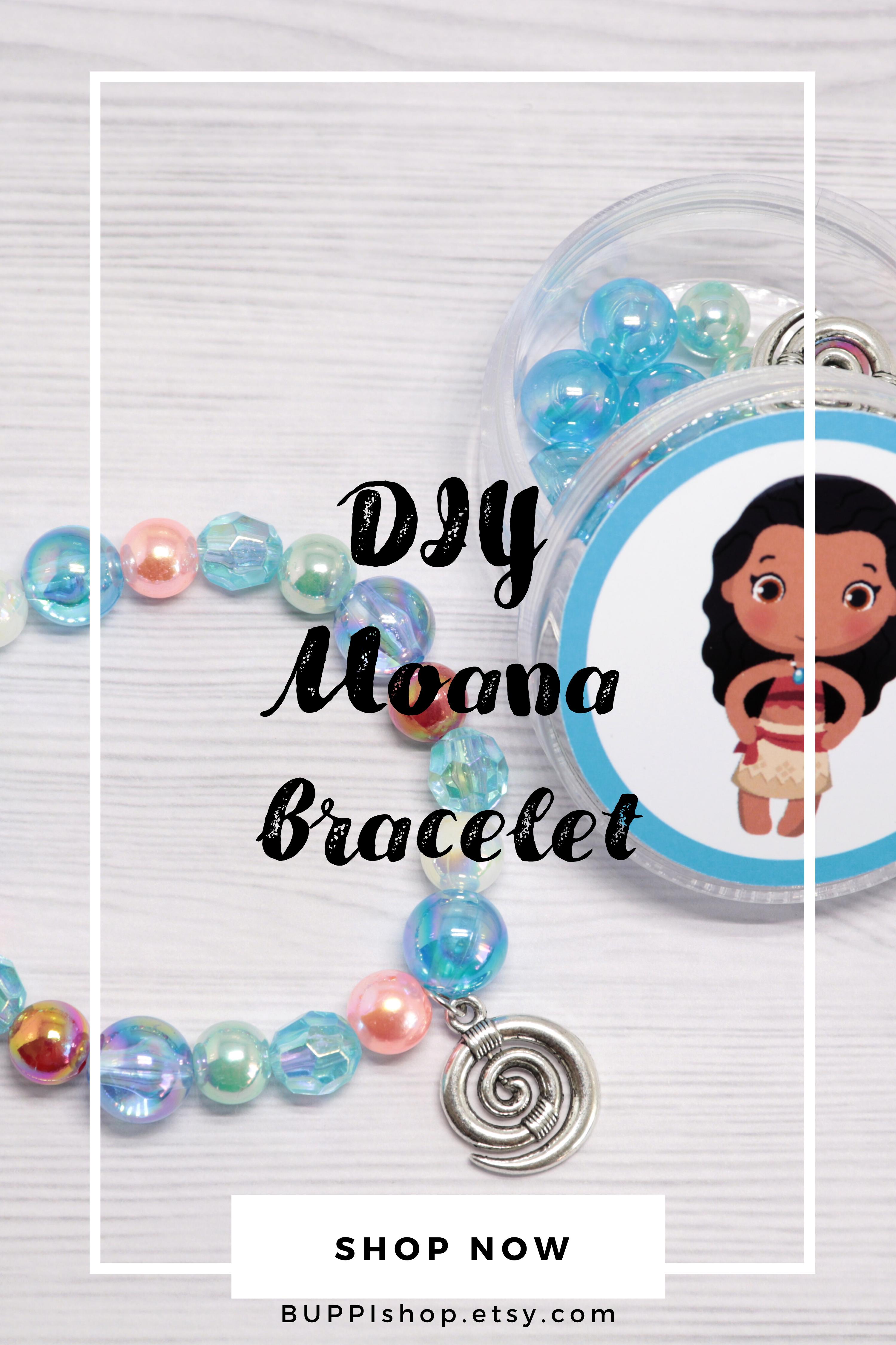 DIY Moana bracelet Moana party favors Little girl jewelry