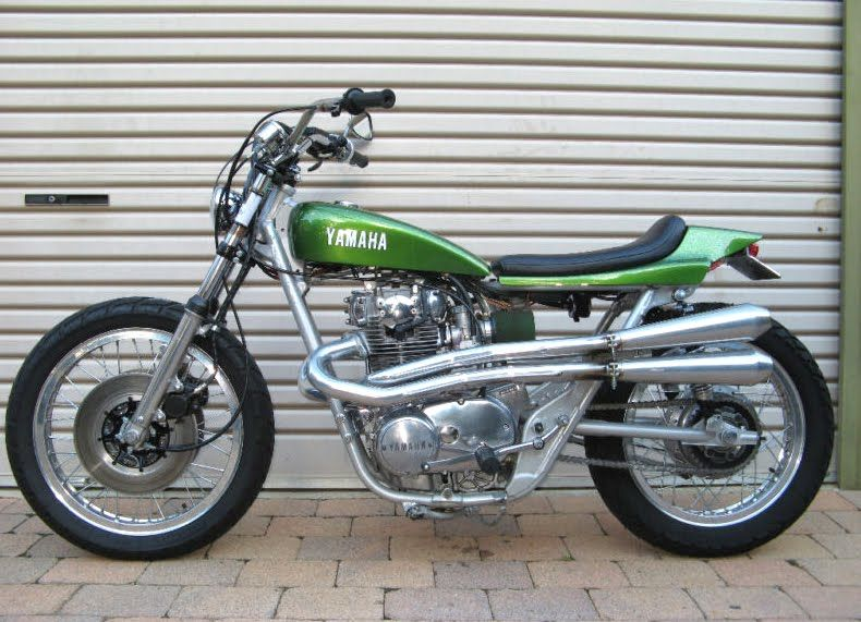 Small Sun Custom Yamaha Xs650 Flattracker And Bobber On Ebay Tracker Motorcycle Yamaha Cafe Racer Motorcycle