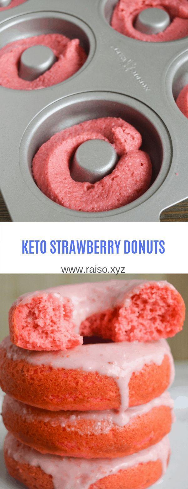 #keto#strawberry#donuts #strawberry #donuts #ketoKETO STRAWBERRY DONUTS