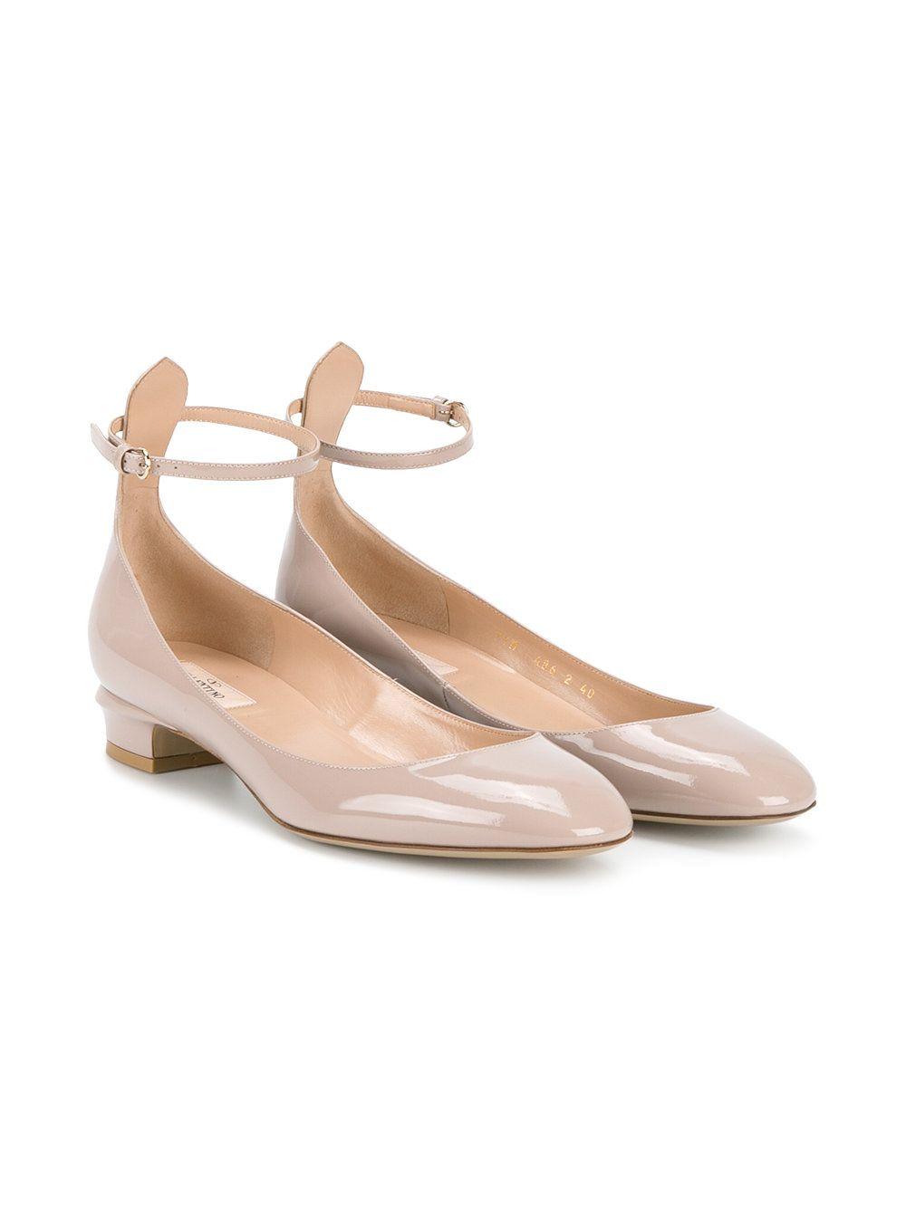 Valentino Chaussures Beige Avec Boucle Pour Femmes K74xq