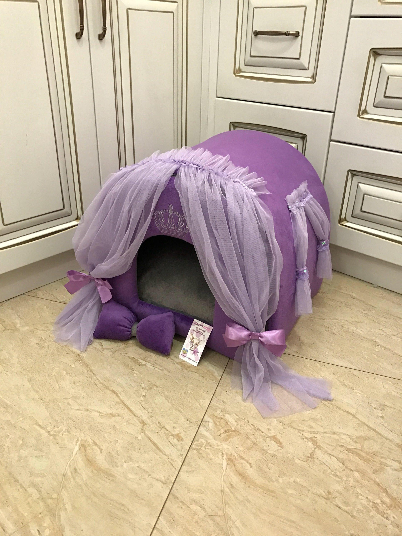 Purple Dog House Designer Dog Bed Purple Custom Made Violet Dog
