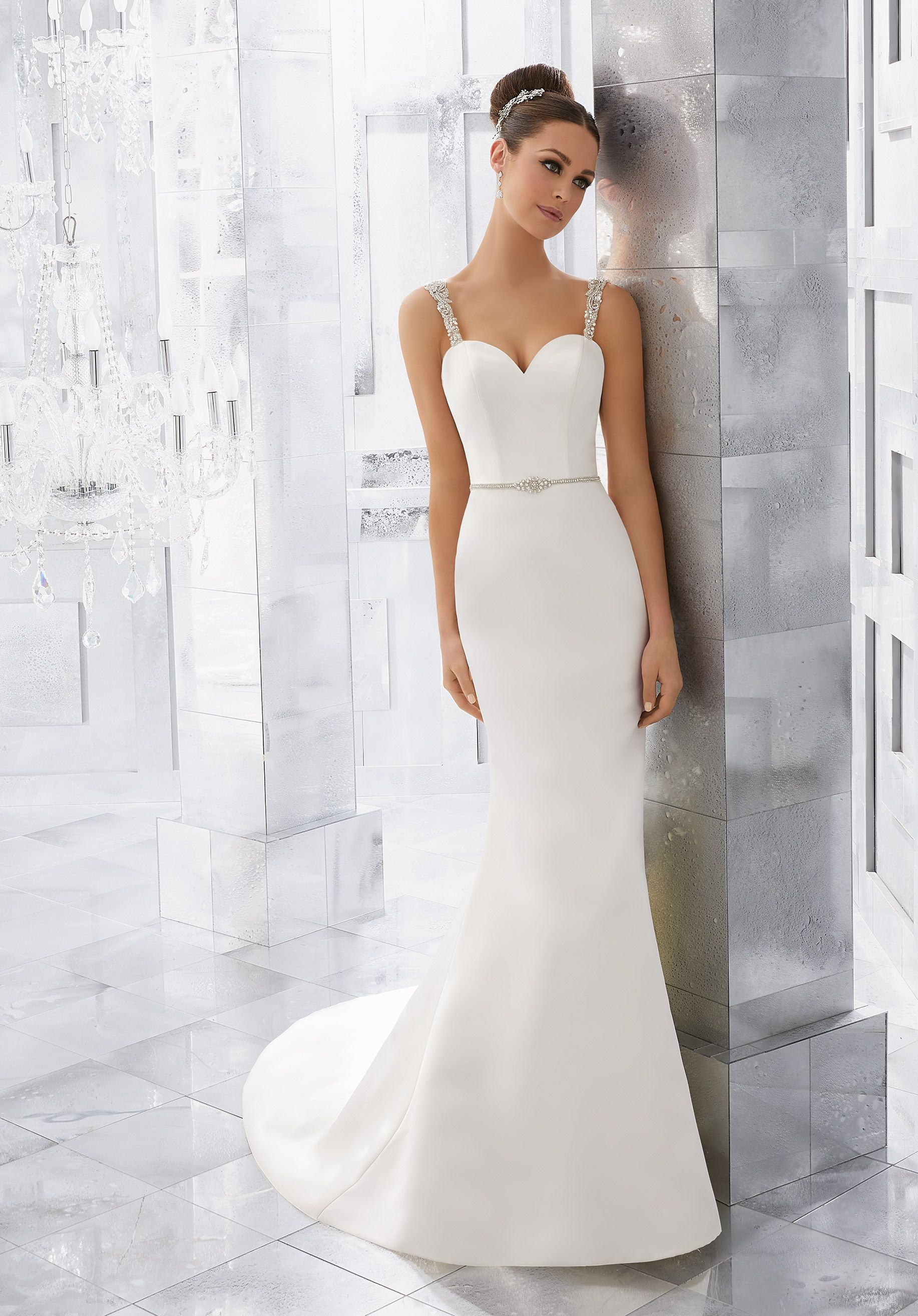 Simple and Understated, This Duchess Satin Wedding Dress is ...