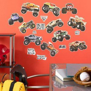 monster trucks justin has these in his room they are cool