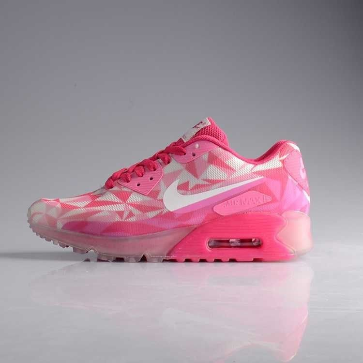 huge discount 49ff1 9acfc Nike Air Max 90 ICE Running Sneakers for Women multi color PINK ICE 5.5-8 US   Nike  FashionSneakers