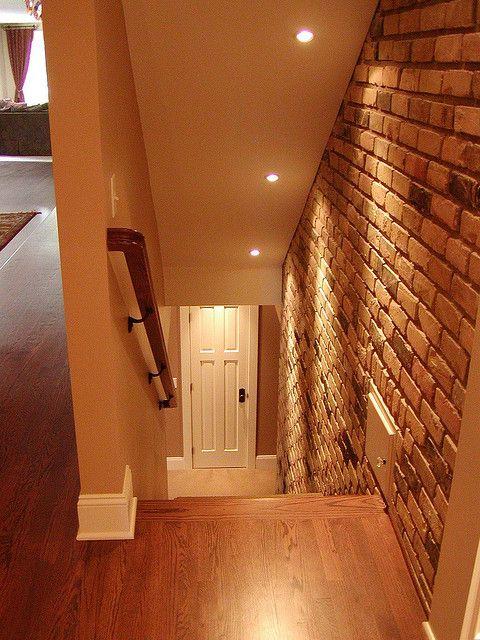 down basement stairs after )) | Basement lighting ...