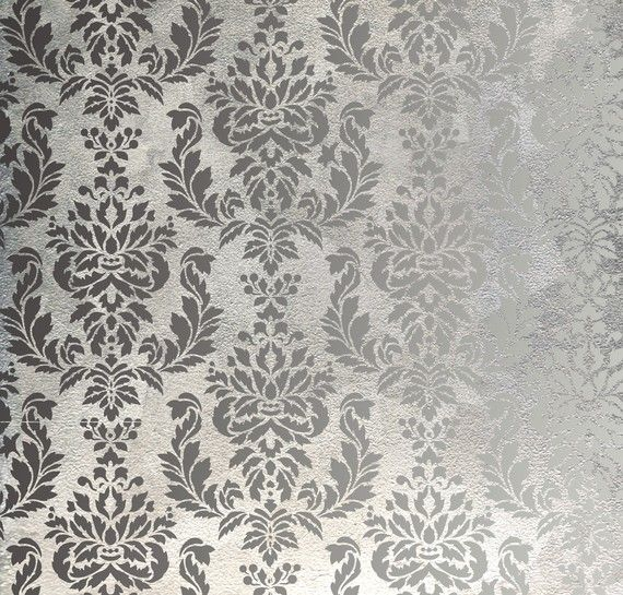 Verde Damask Wall Stencil Allover Wall Pattern for DIY