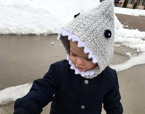 3e24f119671 Crochet Shark hood
