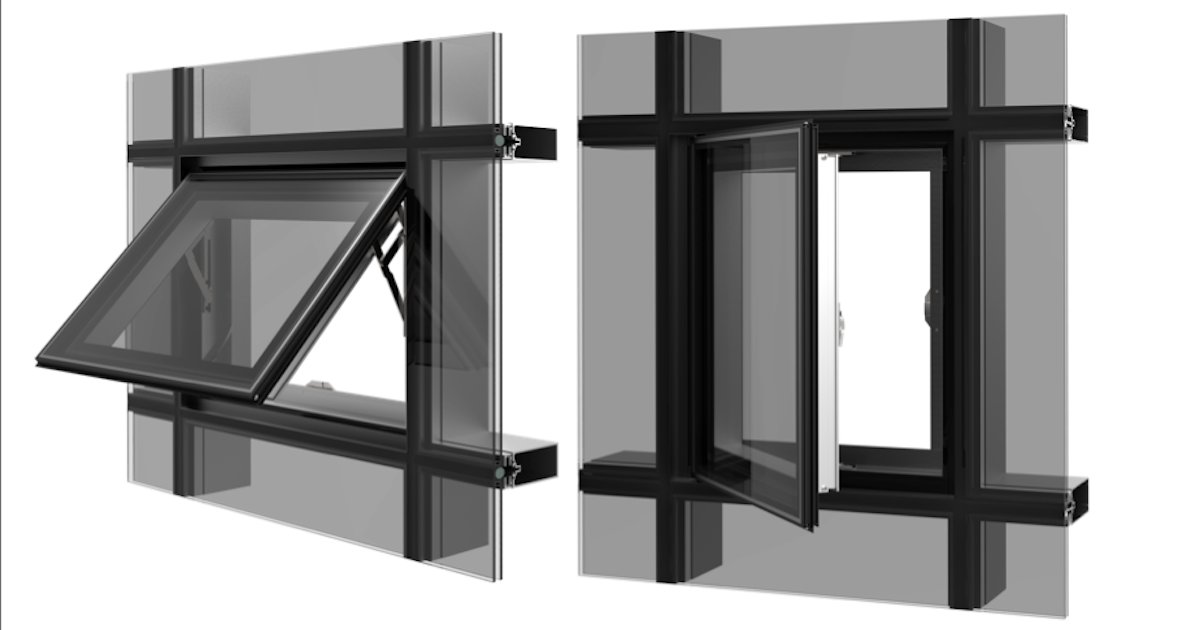 Thermally Broken Zero Sightline Window For Curtain Wall Systems