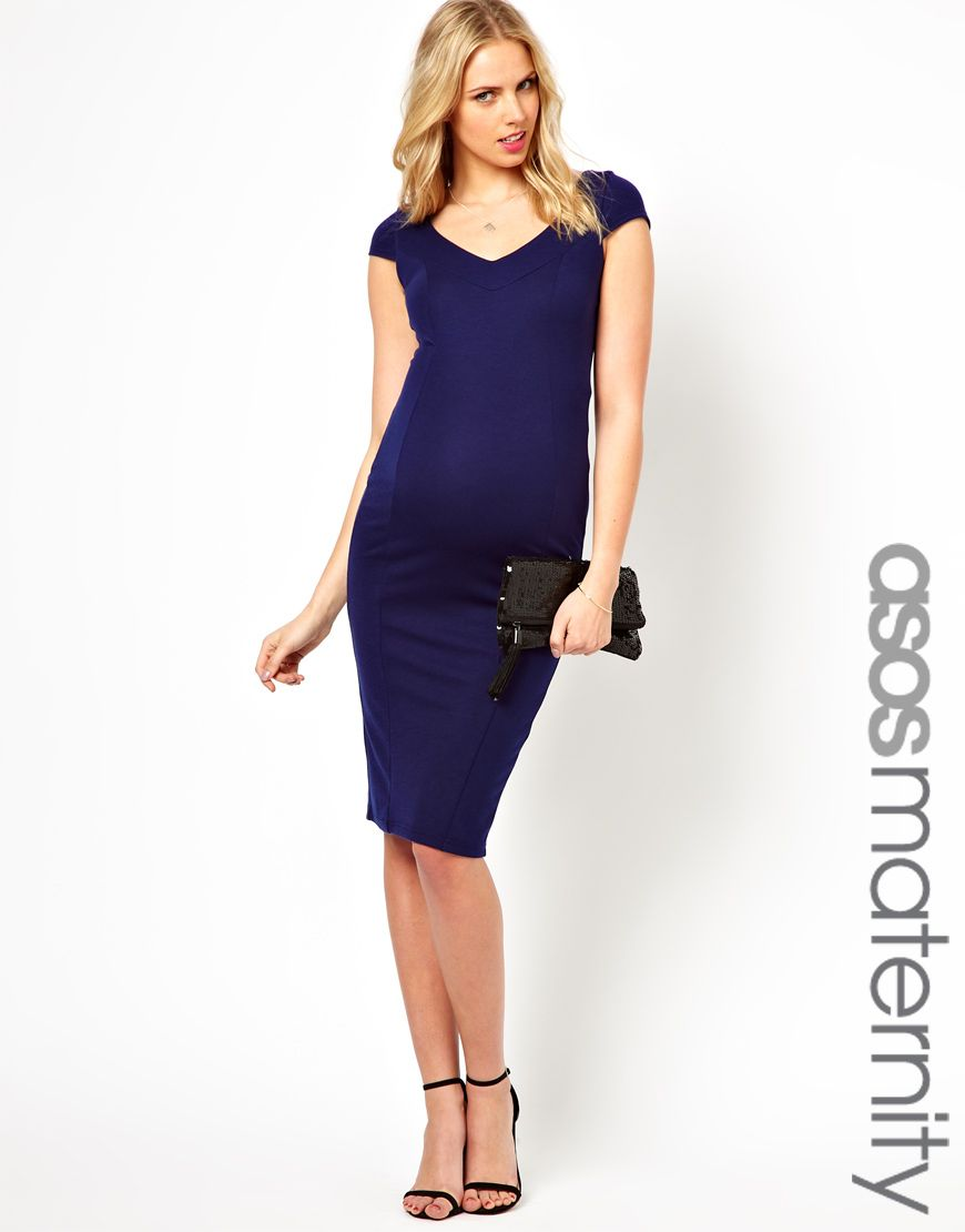 Asos maternity pencil dress with deep v what to wear maternity asos maternity pencil dress with deep v neck ombrellifo Gallery