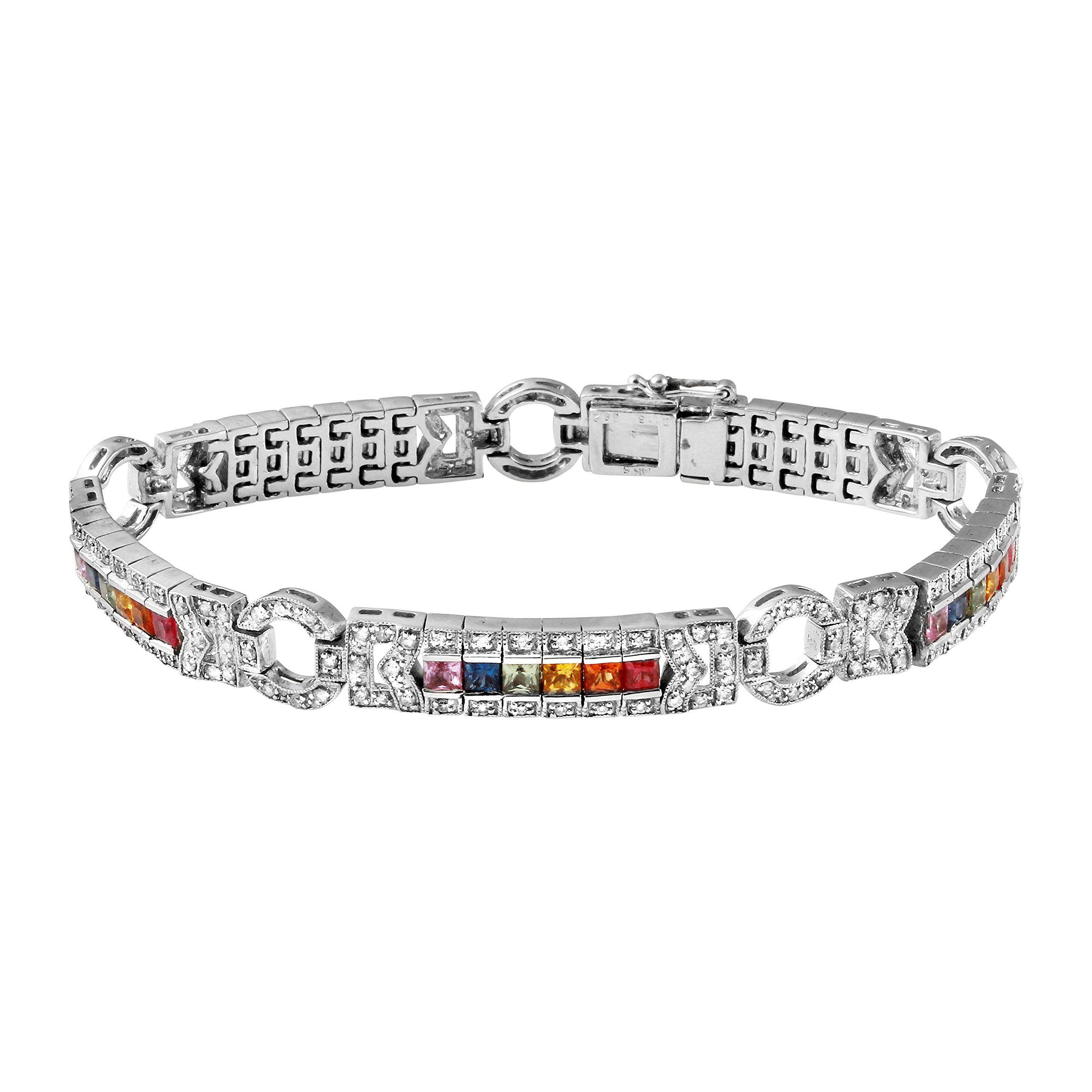 Genuine tcw k white gold ladies bracelet gold color