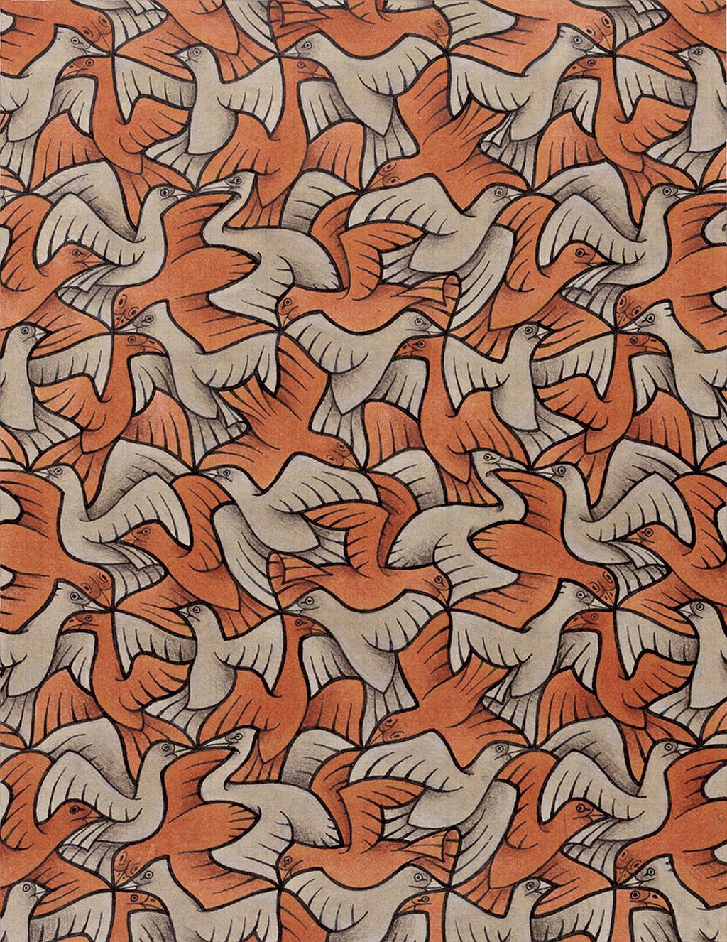 tnl wall mc escher birds tessellations 885378 | MC Escher, 2d and ...