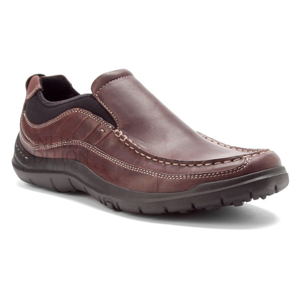 Details about Clarks AXL Men's Leather And Mesh Lightweight
