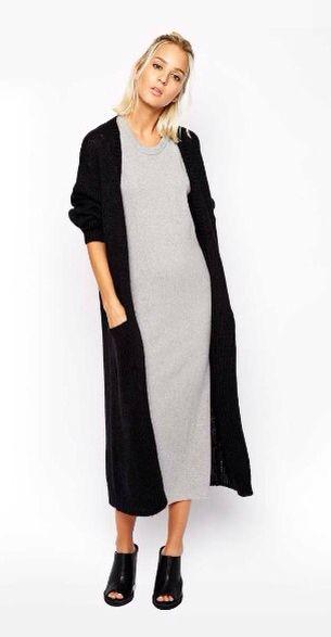 Long cardigan over long dress
