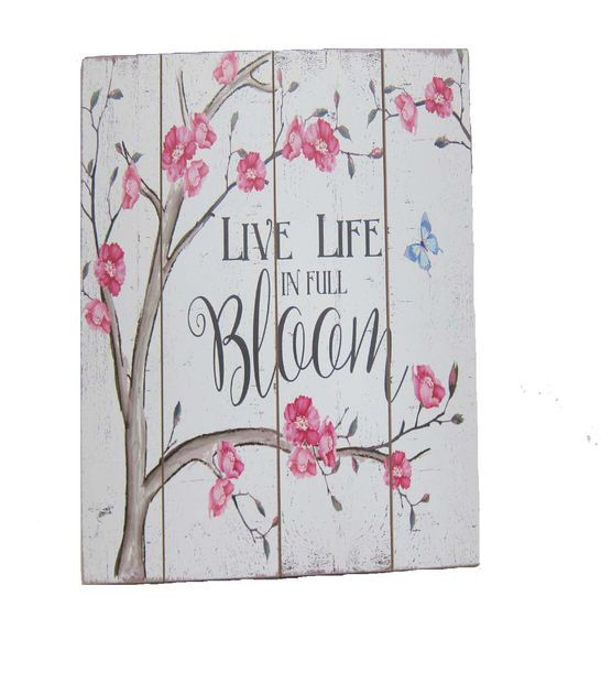 Wild Blooms Wall Decor-Cherry Blossom Full Bloom