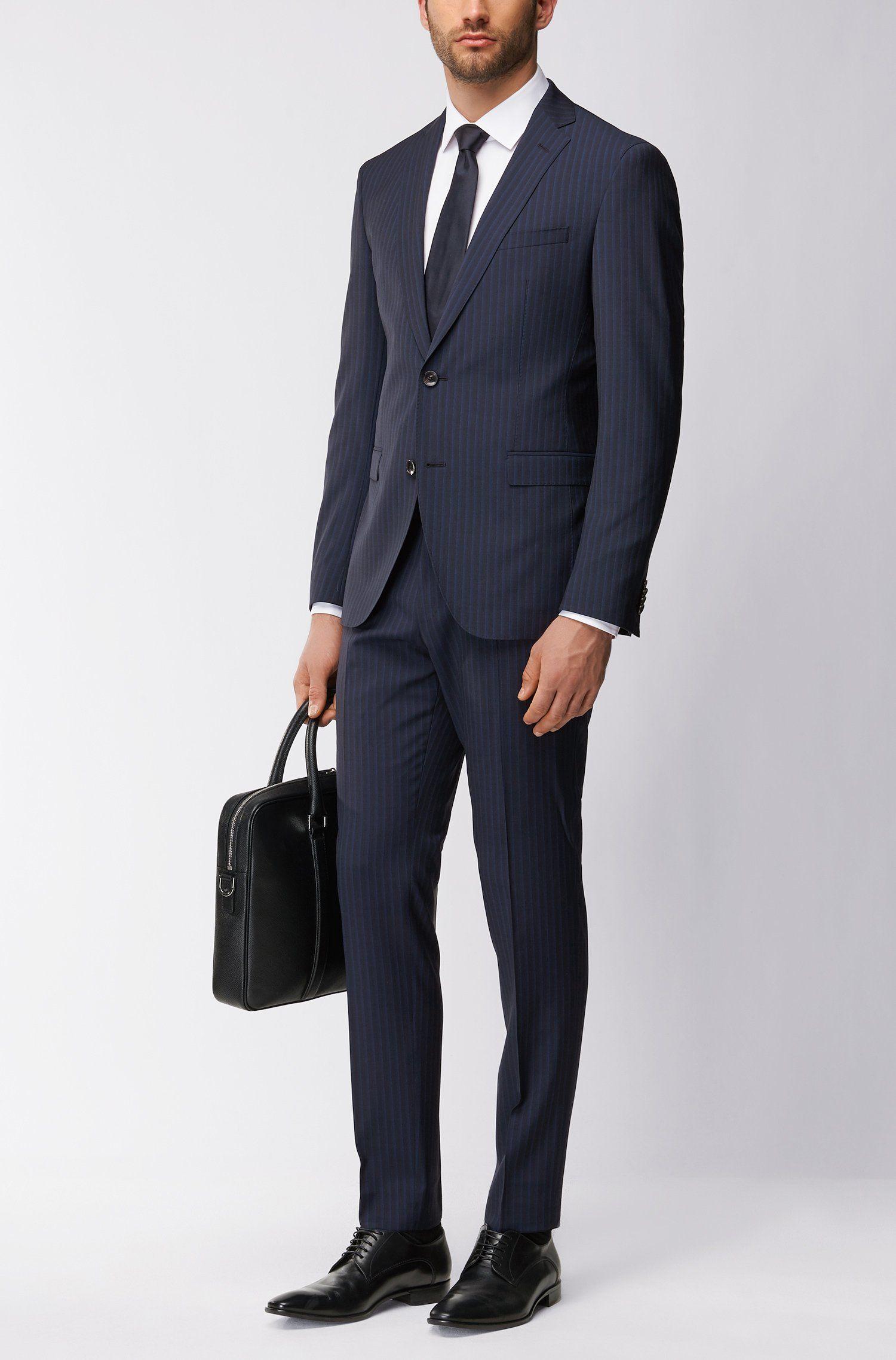 sale online hot sale coupon codes BOSS - Extra Slim-Fit Anzug aus Schurwolle mit AMF-Nähten ...