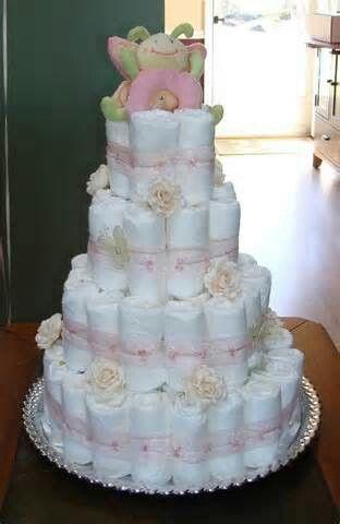Baby girl or boy shower cake