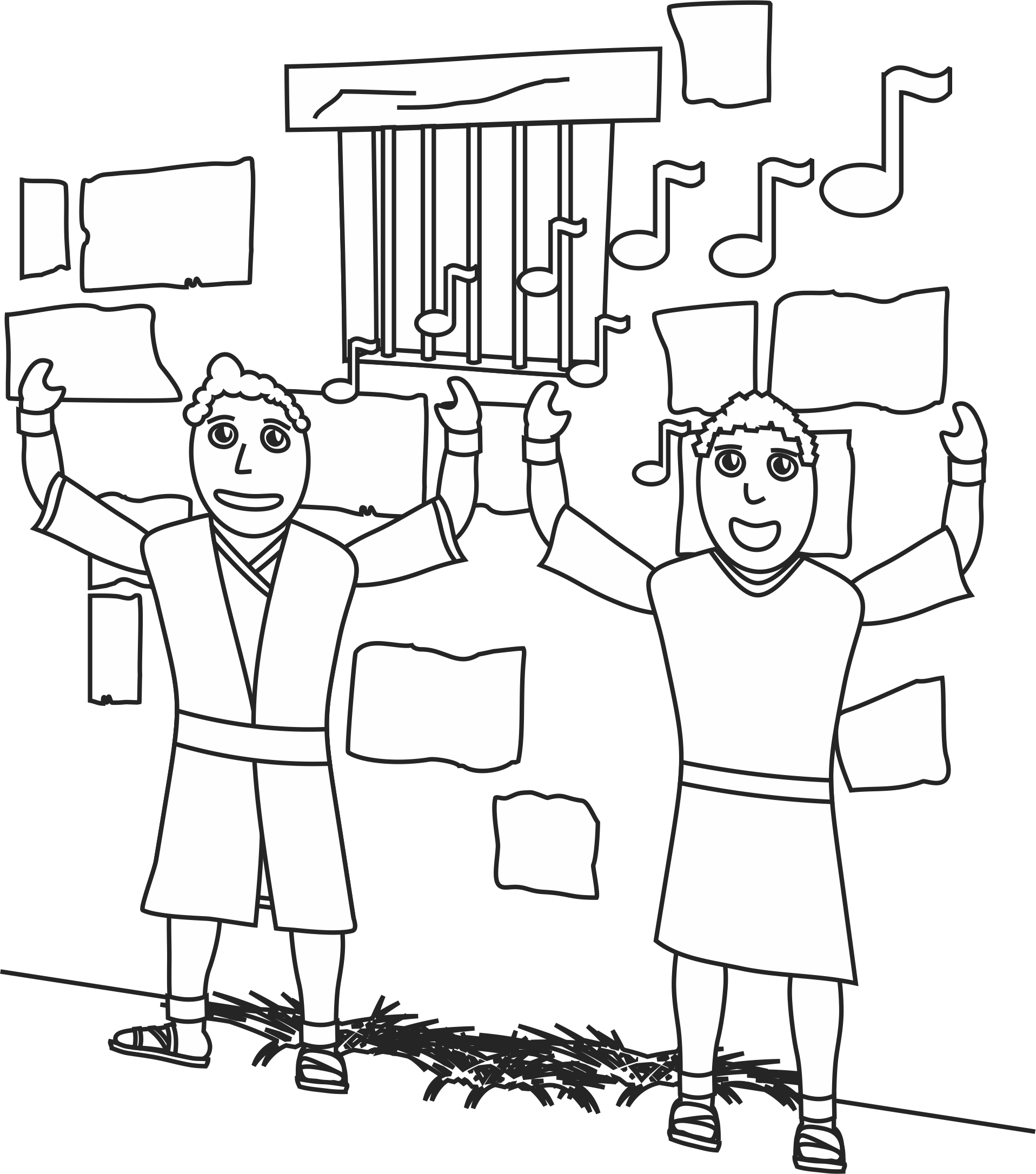 Free Coloring Pages Download Paul And Silas In Jail Page Our Bible