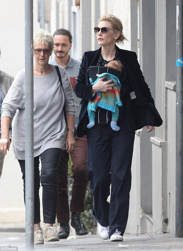 Cate Blanchett goes shopping with adopted daughter Edith