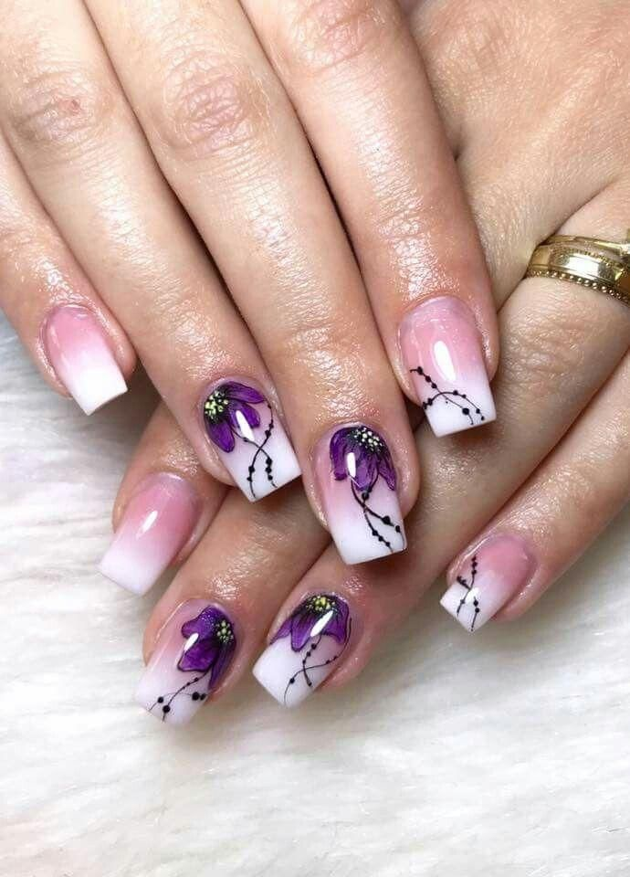 50 Sheets Floral Water Transfer Sticker Nail Art Design For Summer ...