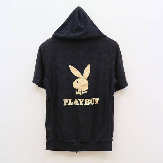 Vintage Playboy fullprint hoodie zipper sweatshirt IP3q0