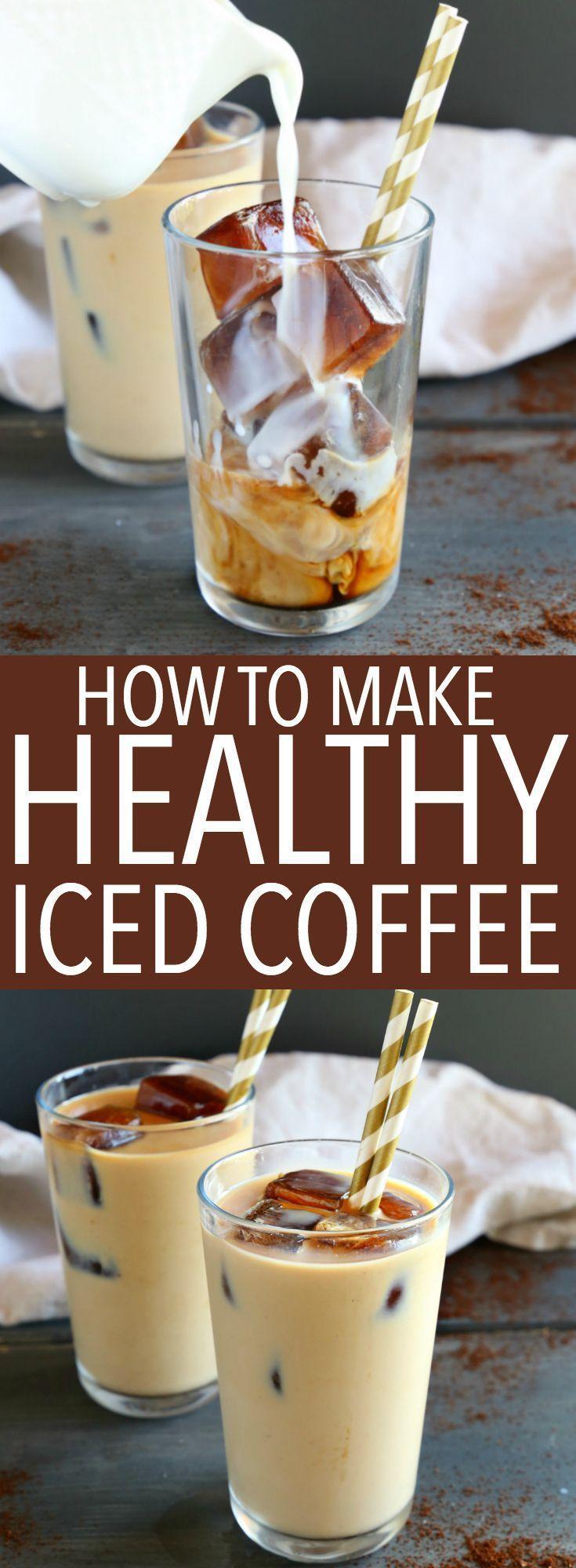 Healthy iced coffee recipe healthy iced coffee iced
