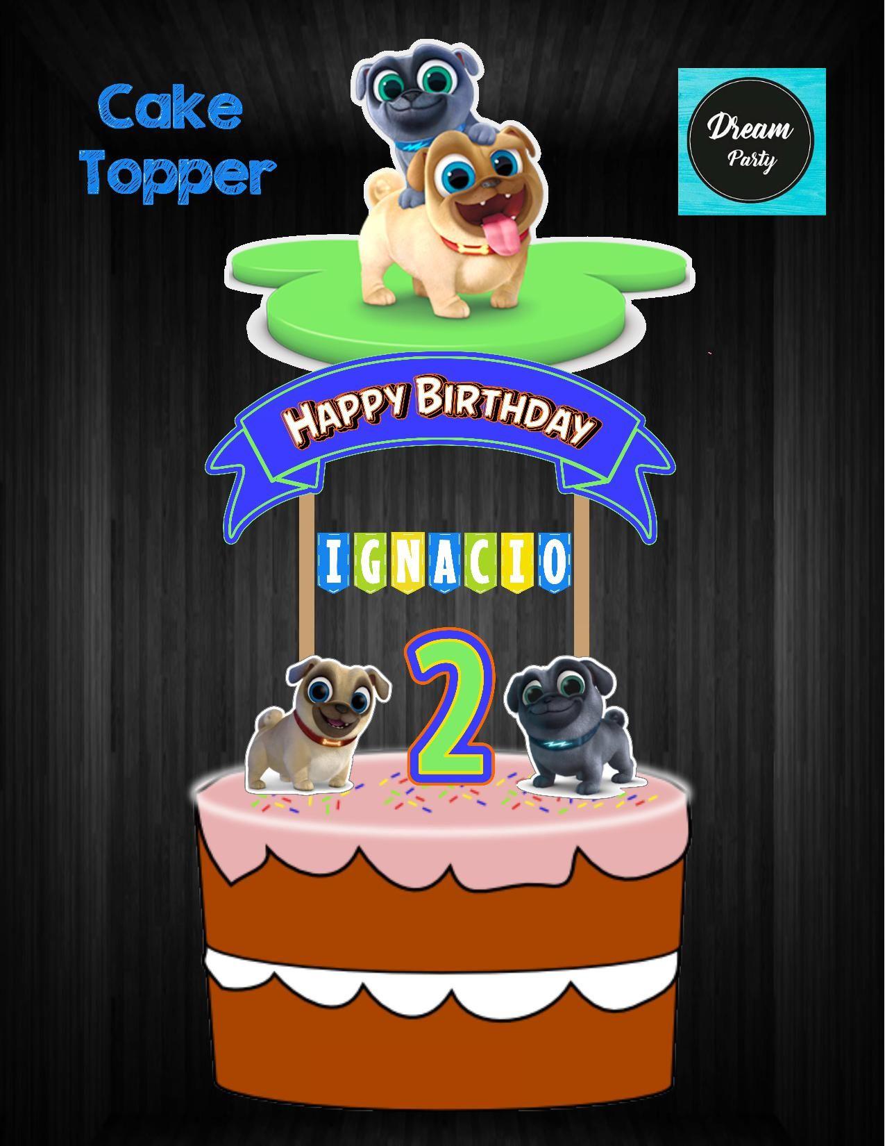 Puppy Dog Pals Cake Topper Puppy Dog Pals Birthday Puppy Dog