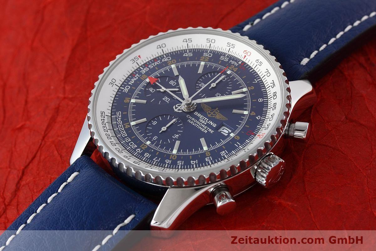 BREITLING NAVITIMER WORLD CHRONOGRAPH GMT EDELSTAHL A24322   152670