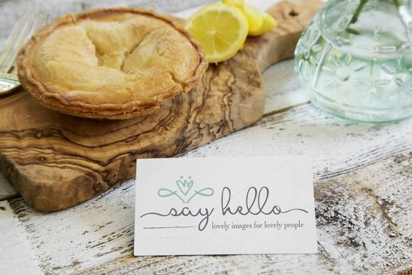 Lemon Pie Little Messages & Mockups by Say Hello Photos on @creativemarket
