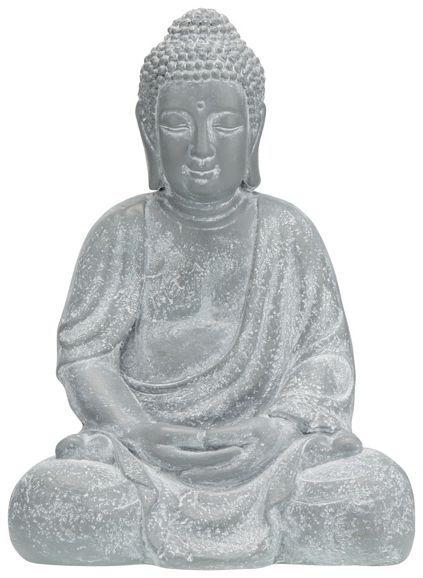 Buddha in Grau aus Naturstein.